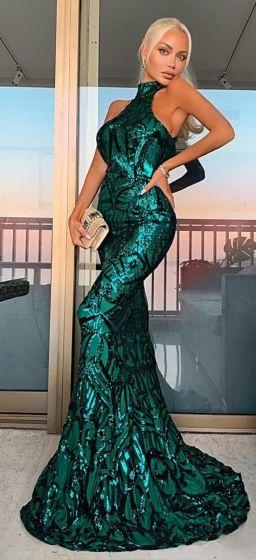 NSX Emerald Green VIP Maxi Dress