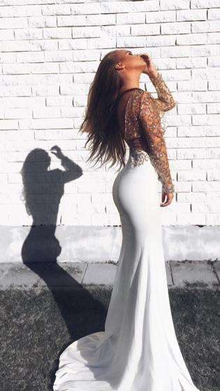 NSX White Sparkle Maxi Dress