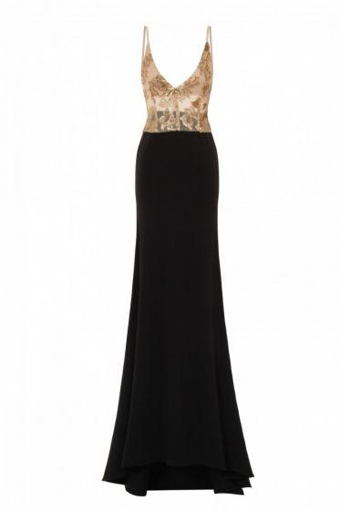 NSX Black Backless Maxi Dress