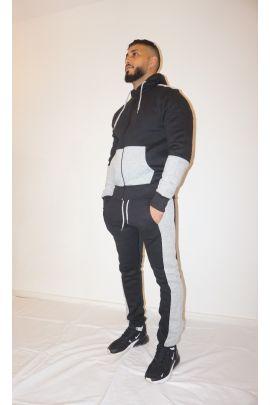 Black/Grey Zip Tracksuit