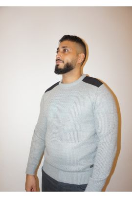 Grey Shoulder Knitwear