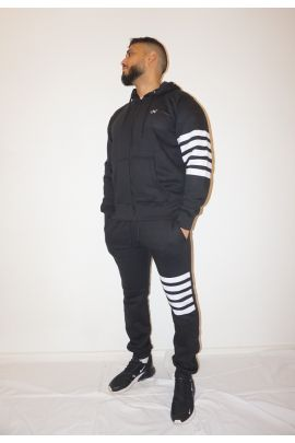 NS Black Hooded Tracksuit