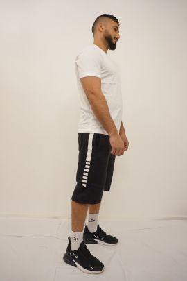 Black/White Sport Shorts Set