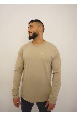 NS Beige Sleeve Shirt