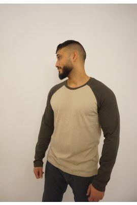 Beige/Khaki Long Sleeve Shirt