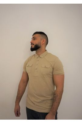 Beige Front T-Shirt