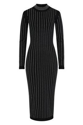 NSX Black Crystal Bodycon Dress
