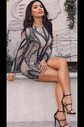 NSX Black Mini Dress