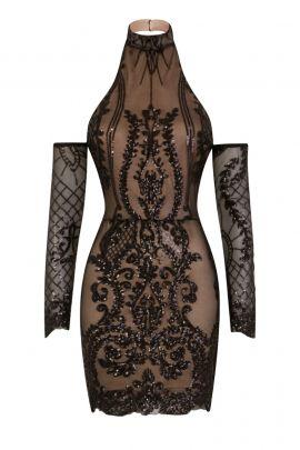 NSX Black Nude Luxe Dress