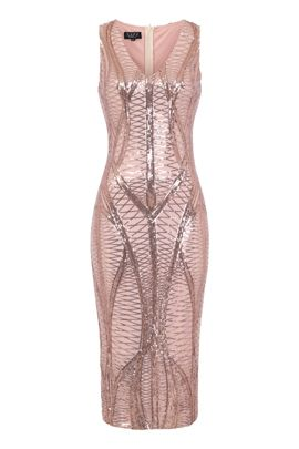 NSX Rose Gold Midi Dress