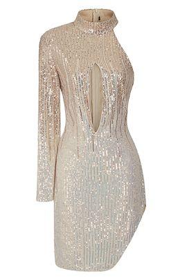 nsx rose gold silver midi dress