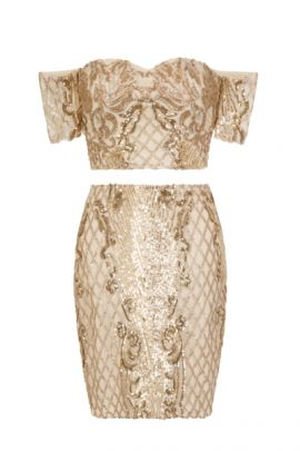 NSX VIP Nude Gold Co Ord Set