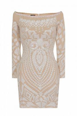 NSX white luxe mini dress