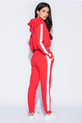 Red/White Cropped Loungewear