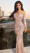 NSX Rose Gold VIP Mermaid Maxi Dress