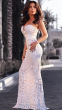 NSX White Luxe Embellished Maxi Dress