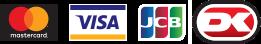 Vi accepterer MasterCard, Visa, JCB, PayPal og Dankort